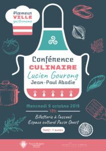 Affiche Conférence culinaire